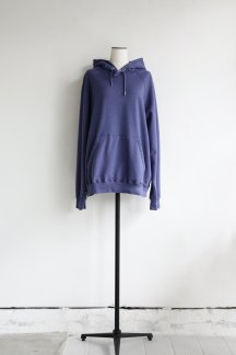 unfil COTTON FRENCH TERRY HOODIE LIGHT NAVY
