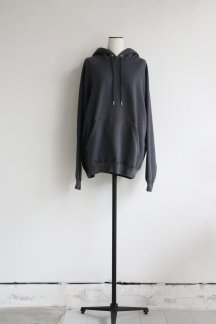 unfil COTTON FRENCH TERRY HOODIE CHARCOAL