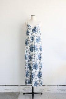 CURRENTAGE LINEN FLOWER PRINT CAMI DRESS