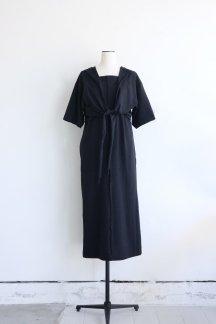 CURRENTAGE ORGANIC COTTON BOTANICAL DYE JERSEY DRESS BLACK