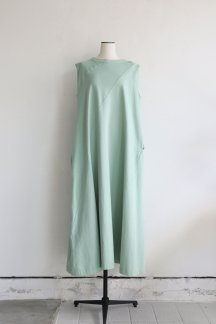 HAKUJI COTTON TIGHT FLARE DRESS MINT