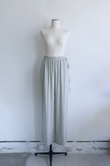 GALERIEVIE WASHABLE RAYON EASY SEMI WIDE PANTS