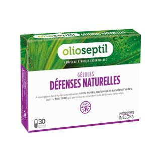 DEFENSES NATURELLEディフェンスナチュレ|体をバリア|飲む6種類のメディカルハーブエッセンシャルオイルカプセル(30カプセル)