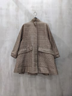 <img class='new_mark_img1' src='https://img.shop-pro.jp/img/new/icons1.gif' style='border:none;display:inline;margin:0px;padding:0px;width:auto;' />FORMO Stand Collar Checkered Coat