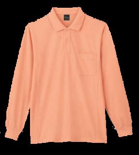 85884吸汗速乾長袖ポロシャツ