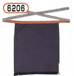 6206腰下帆前掛け(紺)片ポケット付
