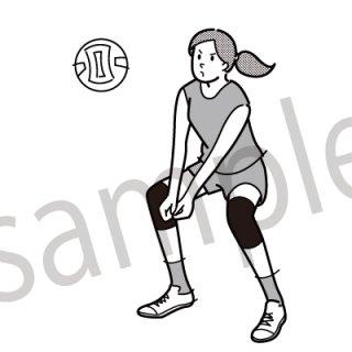 バーレーボール イラスト(トス、オリンピック、スポーツ)