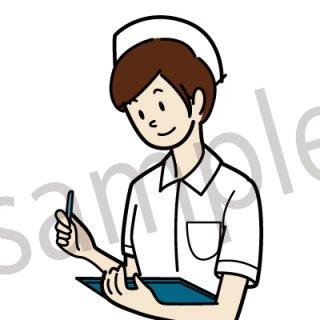看護師 イラスト(看護婦、病院、医療、診察)