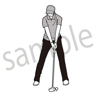 ゴルフボール イラスト(スポーツ、趣味)