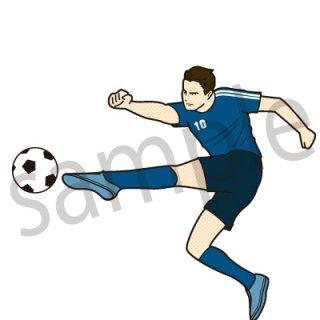 サッカー シュート イラスト(スポーツ、ボール、サッカーボール、ワールドカップ)