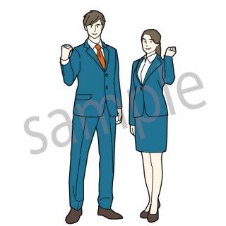 新入社員の男女(男女,サラリーマン,ビジネスマン,ビジネスウーマン,フレッシュ)