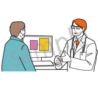 病院 診察 イラスト(病気,診断,健康,)