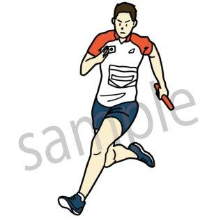 男子陸上選手 イラスト(短距離走,長距離走,リレー,オリンピック)