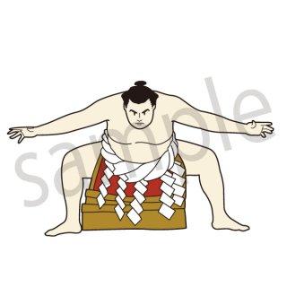 力士 イラスト(相撲、スポーツ)