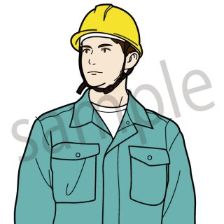 建設会社 社員 イラスト(建築、建築会社、建設、建設現場、作業員)