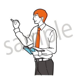 教師 イラスト(教師,講師,先生,授業,講義、講座)