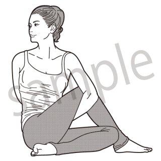 ヨガ ポーズ (ヨガ、体操、ストレッチ、健康、美容)