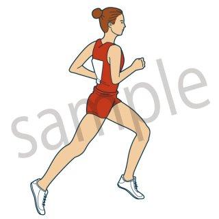 長距離 ランナー イラスト(スポーツ、陸上、マラソン、正月)