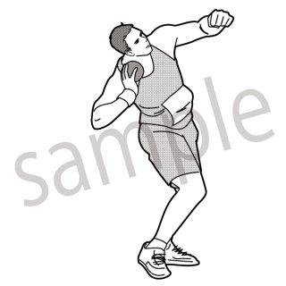 砲丸投げ 陸上  イラスト(スポーツ、オリンピック)
