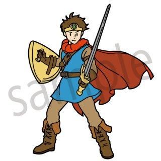 勇者のコスプレ イラスト(戦士、イベント、ハロウィン)