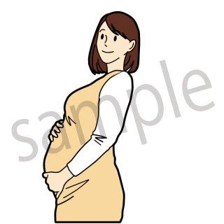 妊婦 イラスト(妊娠、子供、赤ちゃん、お母さん、母親)