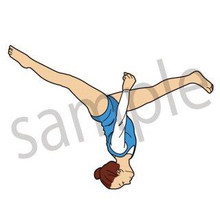 体操選手 イラスト (体操、スポーツ)