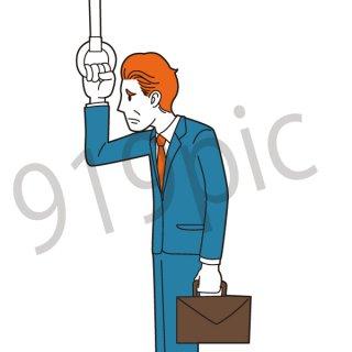 体調不良 ビジネスマン イラスト(鬱、ネガティブ、不調、ビジネス、会社員、サラリーマン、仕事、不健康、悩む、悩み、痛い)