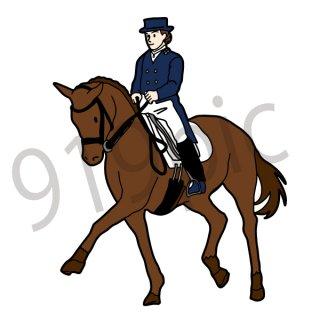 馬術競技 イラスト(乗馬,馬,スポーツ,オリンピック)