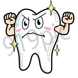 健康な歯 イラスト(ヘルスケア,歯磨き,虫歯,歯,歯医者)