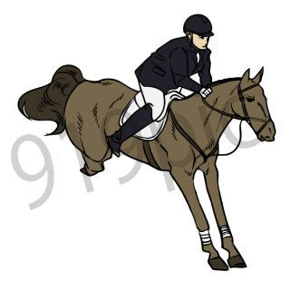 馬術競技 イラスト(乗馬,馬,スポーツ,オリンピック,ジャンプ)