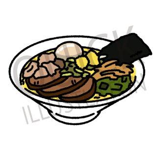 ラーメン イラスト(フード、食べ物、和食、料理、中華料理、)