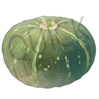 かぼちゃ イラスト(野菜、食べ物、植物、食)