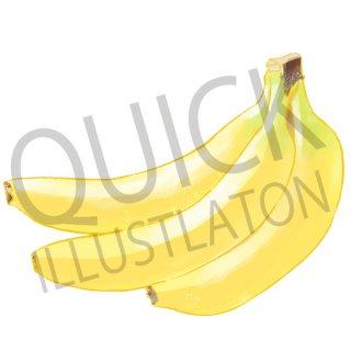 バナナ イラスト(果物野、食べ物、植物、食、フルーツ)