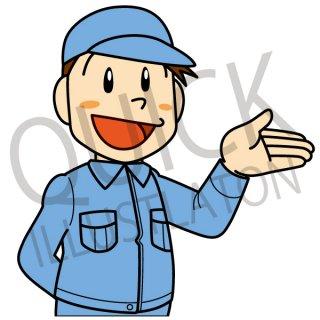 整備士 イラスト(ビジネス、建築、製造業、会社員、工場、社員、)