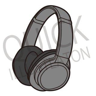 ヘッドフォン イラスト(ヘッドホン、ヘッドセット、ゲーム、オンラインゲーム、音楽)