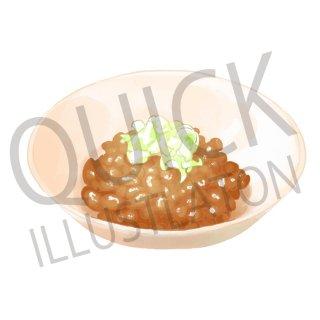 納豆 イラスト(食べ物、夕食、料理、クッキング、和食、朝食、大豆)