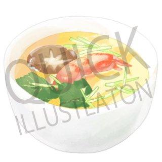 茶碗蒸し イラスト(食べ物、夕食、料理、クッキング、和食)