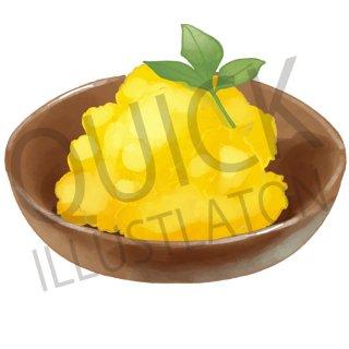 栗きんとん イラスト(食べ物、夕食、料理、クッキング、和食、おかず、くりきんとん)