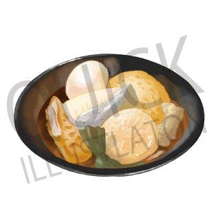 おでん イラスト(食べ物、夕食、料理、クッキング、和食、)