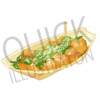 たこ焼き イラスト(食べ物、夕食、料理、クッキング、和食)