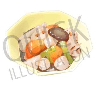 煮物 イラスト(食べ物、夕食、料理、クッキング、和食、)