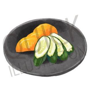 漬物 イラスト(食べ物、料理、クッキング、和食、野菜)