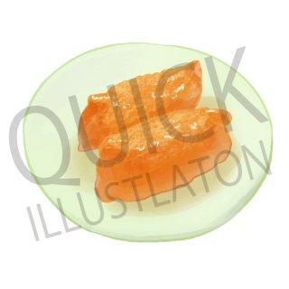 いなり寿司 イラスト(食べ物、料理、クッキング、和食)