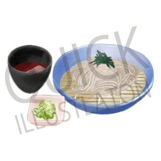 ざる蕎麦 イラスト(食べ物、料理、クッキング、和食、そば、麺類)