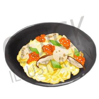 ちらし寿司 イラスト(食べ物、料理、クッキング、和食、ご飯、白飯、ごはん、お米、寿司)