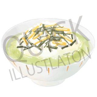 お茶漬け イラスト(食べ物、料理、クッキング、和食、白飯)