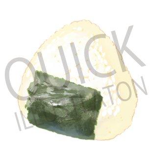 おにぎり イラスト(食べ物、料理、クッキング、和食、白飯、お米、白米、おむすび)