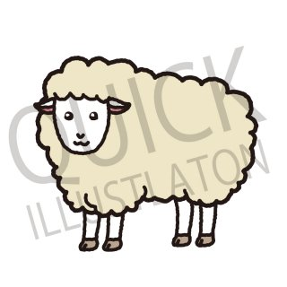 羊 イラスト(動物、アイコン、ひつじ)