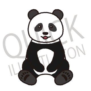 パンダ イラスト(動物、アイコン、ひつじ)