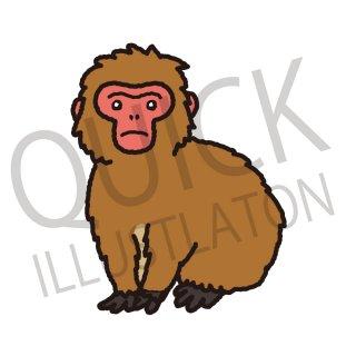 ニホンザル イラスト(動物、アイコン、猿)